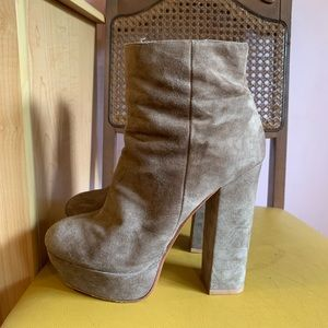 Dolce vita platform suede booties boots